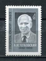 USSR Russia 1982 K.I. Tchukovsky Writer 100th Birth Anniv ART Portrait Famous People History Writers Stamp MNH Mi 5164 - 1923-1991 USSR