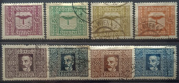 AUSTRIA 1922/24 - Canceled - ANK 425-432 - AIR MAIL - Aéreo