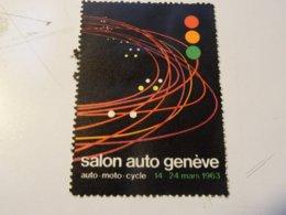 VIGNETTE  SUISSE  GENEVE SALON DE L AUTO 1963 - Vignettes De Fantaisie