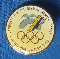 OLYMPIC GAMES -  AUSTRIA - SWEDEN  2002.  BID  Badge / Pin - Olympische Spelen