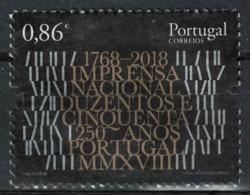 Portugal 2018 Used 250 Ans Imprimerie Nationale Imprensa Nacional SU - Oblitérés