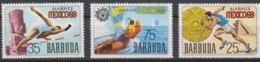 Olympics 1968 - Sailing - Athletics - BARBUDA - Set MNH - Sommer 1968: Mexico
