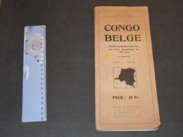 CONGO BELGE - CARTE ADMINISTRATIVE - ED DE ROUCK  CARTE N°22 - 4e édition - Carte Geographique
