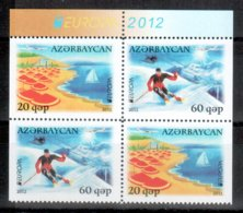 Aserbaidschan / Azerbaijan / Azerbaidjan 2012 HB/sheet From Booklet EUROPA ** - Europa-CEPT