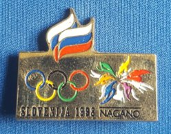 OLYMPIC GAMES -  NAGANO 1998. SLOVENIA NOC  Badge / Pin - Olympische Spelen