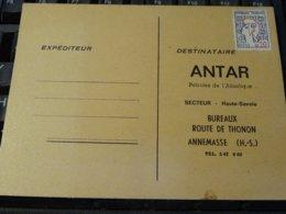 FRANCE   ANNEMASSE  ANTAR PETROLES  Secteur  HAUTE-SAVOIE Sur Carte Publicitaire  Neuve - Publicités