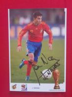 J. Navas Postcard - Spain - Football