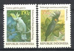 INDONESIA   1980  BIRDS,COCKATOOS MNH - Perroquets & Tropicaux