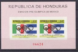 Olympics 1968 - History - HONDURAS - S/S Imp. MNH - Zomer 1968: Mexico-City