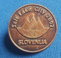 OLYMPIC GAMES - LAKE CITY 2002. SLOVENIA NOC  Bronze Badge / Pin - Olympische Spelen