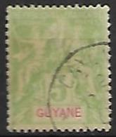 GUYANE   -   1900 .   Y&T N° 43 Oblitéré. - Usados