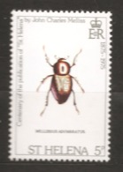 Sainte-Hélène 1975 N° 276 Iso ** Insectes, Coléoptères, Mellissius Adumbratus, John Charles Meliss, Arthropodes, Animal - St. Helena