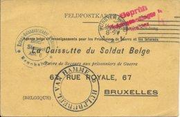 Bericht V An Ontvangst Van Münster (Wesel) Via Brussel Naar Hamme - Guerre 14-18