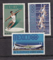 Olympics 1968 - Athletics - CYPRUS - Set MNH - Sommer 1968: Mexico