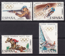 Olympics 1968 - Cycling - SPAIN - Set MNH - Summer 1968: Mexico City