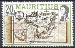 Maurizius, 1978 Map Of The Island Of Mauritius, 20c  # S.G. 531A - Michel 438 - Scott 446  USED - Mauritius (1968-...)