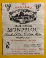 12190 - Château Haut-Bages Monpelou 1983 Pauillac - Bordeaux