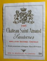 12191 - Château Saint-Amand 1985 Sauternes - Bordeaux