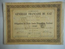 Cie Gle FRANCAISE Du GAZ    1881  PARIS - Electricité & Gaz