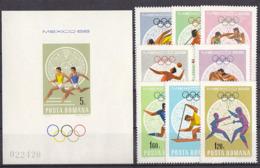 Olympics 1968 - Fencing - ROMANA - S/S Imp.+Set 8v MNH - Sommer 1968: Mexico