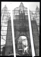 BITONTO - BAT  - ANNI 70 - VECCHIA FOTO ORIGINALE - PORTA BARESANA CON LUMINARIE E ANIMAZIONE!!! - Bitonto