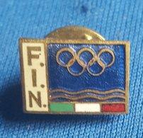 OLYMPIC GAMES - ITALY, ITALIA  F.I.N. NOC  Enamel Badge / Pin - Olympische Spelen