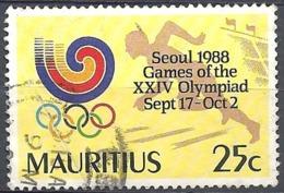 Maurizius, 1988 Olympic Games, Seoul, 25c  # S.G. 794 - Michel 674 - Scott 678  USED - Mauritius (1968-...)