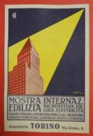 1926 Torino Mostra Internaz Edilizia Illustrateur Et Signature Elettricita Ferroviari Congressi Avec Francisque - Italie