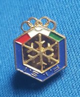 OLYMPIC GAMES - ITALY, ITALIA  F.I.S.I.  NOC  Badge / Pin - Olympische Spelen