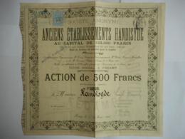TEMPLE PROTESTANT Anciens Ets HANDISYDE 1907 FECAMP - Actions & Titres