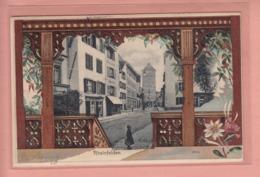 OUDE POSTKAART - ZWITSERLAND - SCHWEIZ -  SUISSE -  PRAEGE - RELIEF - EMBOSSED - RHEINFELDEN  1904 - AG Argovie