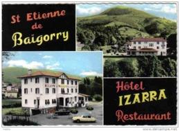 """Carte Postale 64. Saint-Etienne-de-Baïgorry  Hotel """"IZARRA""""  DS Citroën Trés Beau Plan - Saint Etienne De Baigorry"""