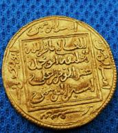 Pièce D'or Trouvée En Tunisie - 1/2 Dinar 1162-1184 - ALMOHADE Afrique Du Nord Et Espagne- - Tunesië