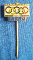 OLYMPIC GAMES - ITALY, ITALIA  F.I.A.P.  NOC  Enamel Badge / Pin - Olympische Spelen