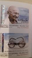 GREECE, 2019, MNH, GANDHI, 2v S/A Ex. BOOKLET - Mahatma Gandhi