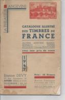 Philatélie - Catalogue Illustré Des Timbres De France - Philatélie Angevine - Boeken, Tijdschriften, Stripverhalen