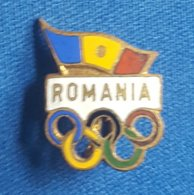 OLYMPIC GAMES - ROMANIA NOC  Enamel Badge / Pin - Olympische Spelen