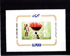 Olympics 1968 - Torch Bearer - AJMAN - S/S Imp. MNH - Zomer 1968: Mexico-City