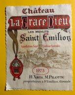 12192 - Château La Grâce Dieu Les Menuts 1975 Saint-Emilion - Bordeaux