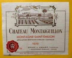 12195  - Château Montaiguillon 1978 Montagne-St-Emilion - Bordeaux