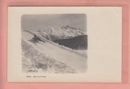 OUDE POSTKAART - ZWITSERLAND - SCHWEIZ -  SUISSE -    WINTERSPORT - BOB - ST. MORITZ - BOLT AT FINISH - GR Graubünden
