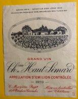 12196  - Château Haut-Simard 1973 St-Emilion - Bordeaux
