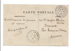 CARTE DE SAINT ANNE D'AVANCON (HAUTES ALPES) POUR TOURS EN VIMEU (SOMME) 1913 - Marcophilie (Lettres)
