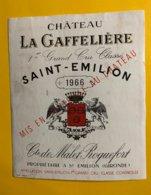 12197  - Château La Gaffelière 1966  St-Emilion - Bordeaux