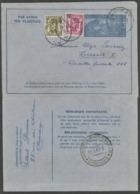 1949 Aérogramme 3,15 Fr + 0.85 Fr  Van CHIMAY Naar TRIESTE ( ITALIË) 16-5-49 - Stamped Stationery