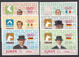 Olympics 1968 - Cycling - Winner - AJMAN - Set Imp. MNH - Summer 1968: Mexico City