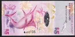 BERMUDA P58a  5  DOLLARS   2009  #002736  Signature 35  UNC. - Bermudas