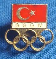 OLYMPIC GAMES TURKEY G.S.G.M.  NOC  Badge / Pin # 2 - Olympische Spelen