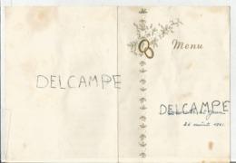 Mariage De Annette Et Jean Le 26 Août 1961 - Menus