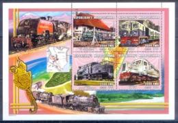 O148- Madagascar Madagaskar 2000. Transport. Trains. - Trains